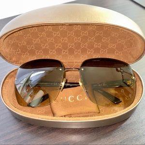 Authentic Gucci Rimless Havana Sunglasses GG2864/S